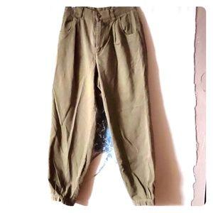 90s Patagonia high waist green khakis